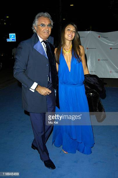 Flavio Briatore and Tamara Mellon during The British Red Cross London Ball 2005 Presents H2O The Element of Life at The Room By The River in London...