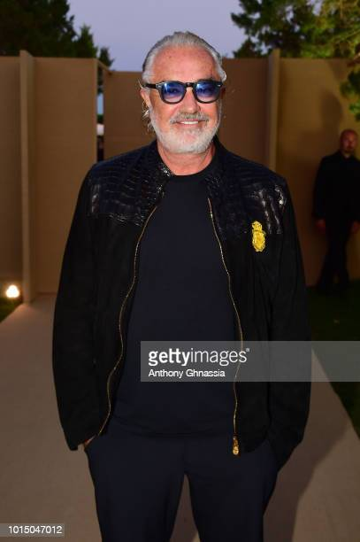 Flavio Briatore attends the Unicef Summer Gala Presented by Luisaviaroma cocktail party at Villa Violina on August 10 2018 in Porto Cervo Italy