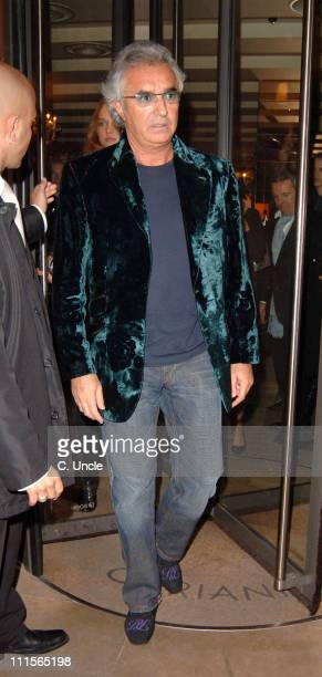 Flavio Briatore during Celebrity Sightings at Cipriani Restaurant in London October 22 2005 at Cipriani Restaurant in London Great Britain