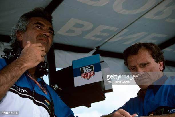 Flavio Briatore Tom Walkinshaw Grand Prix of Great Britain Silverstone Circuit 10 July 1994