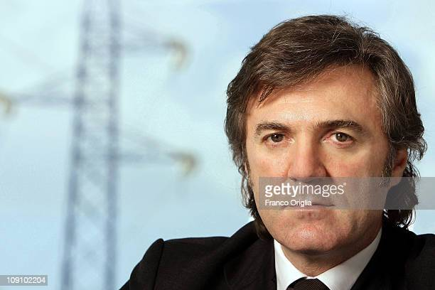 Flavio Cattaneo Chief Executive Officer of Terna Group poses at their headquarters on February 26 2010 in Rome Italy The Terna Group is the first...