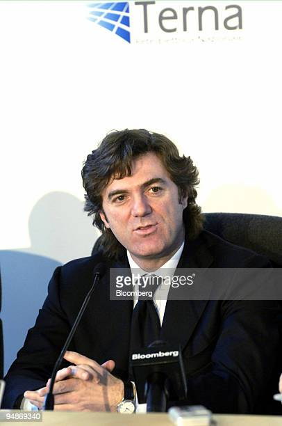 Flavio Cattaneo, chief executive officer Terna SpA, is seen during a press briefing in Milan, Italy, Tuesday, January 31, 2006. Terna SpA, Italy's...