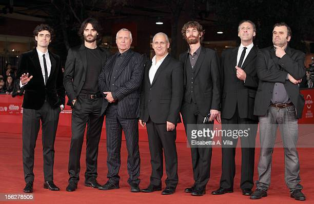 Flavio Parenti Giulio Berruti director Peter Greenaway and guests attend the 'Goltzius And The Pelican Company' Premiere during the 7th Rome Film...