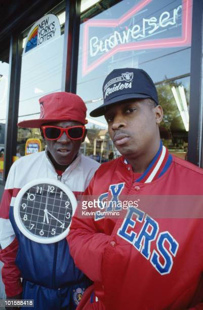 Flavor Flav and Chuck D of hip hop group Public Enemy in New York City on September 14 1988