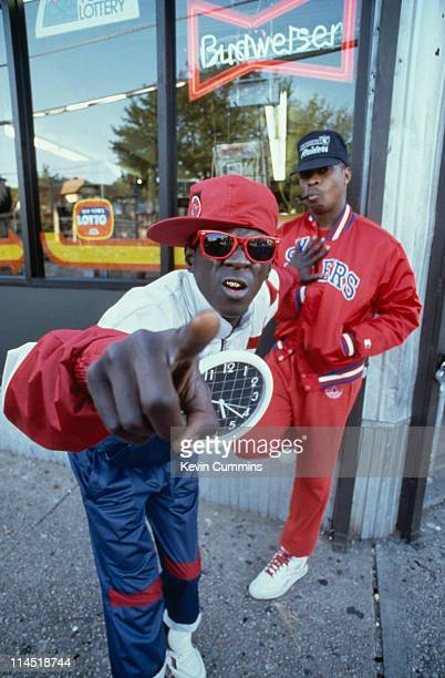 Flavor Flav and Chuck D of hip hop group Public Enemy in New York City 14th September 1988