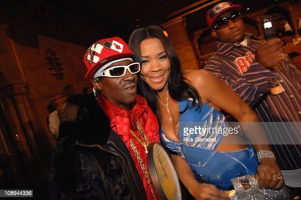 Flavor Flav and Deelishis during 2006 BET HipHop Awards Audience and Backstage at Fox Theatre in Atlanta Georgia United States