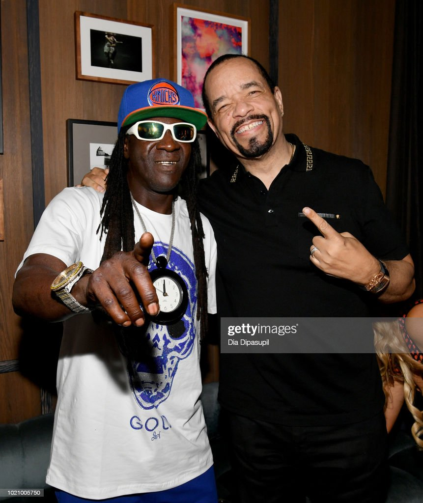 Flavor Flav and Ice-T attend WE tv and Traci Braxton celebrate the new season of Braxton Family Values at The Skylark on August 21, 2018 in New York City.