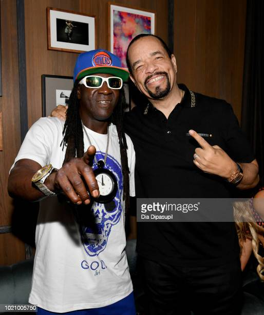 Flavor Flav and Ice-T attend WE tv and Traci Braxton celebrate the new season of Braxton Family Values at The Skylark on August 21, 2018 in New York...