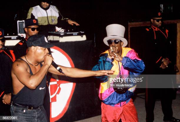 Flavor Flav and Public Enemy perform at the Catalyst on November 8 1992 in Santa Cruz California