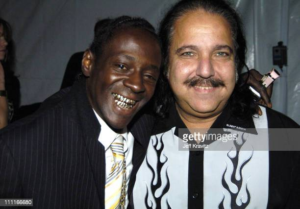 Flavor Flav and Ron Jeremy during VH1 Big in '04 Backstage and Audience at Shrine Auditorium in Los Angeles California United States