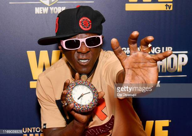 Flavor Flav attends as WEtv celebrates the premieres of Growing Up Hip Hop New York and Untold Stories of Hip Hop on August 19 2019 in New York City