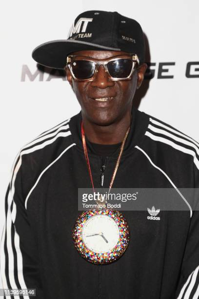 Flavor Flav attends the KO High Boxing at Avalon Hollywood on March 31 2019 in Los Angeles California