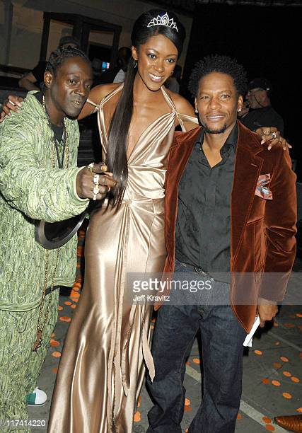 Flavor Flav guest and DL Hughley during VH1 Big in '06 Backstage and Audience at Sony Studios in Culver City California United States