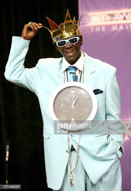 Flavor Flav of Public Enemy performer during BET Awards 2007 Press Room at Shrine Auditorium in Los Angeles California United States