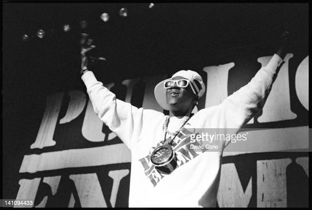 Flavor Flav of Public Enemy performing at Hammersmith Odeon London UK on 2nd November 1987