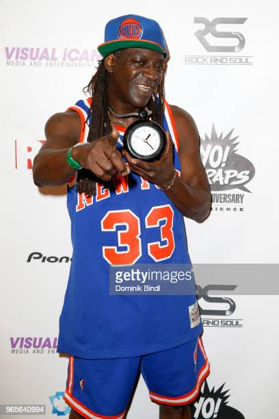 Flavor Flav performs during the YO MTV Raps 30th Anniversary Live Event at Barclays Center on June 1 2018 in New York City