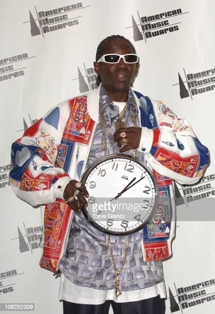 Flavor Flav presenter during 2006 American Music Awards Press Room in Los Angeles California United States