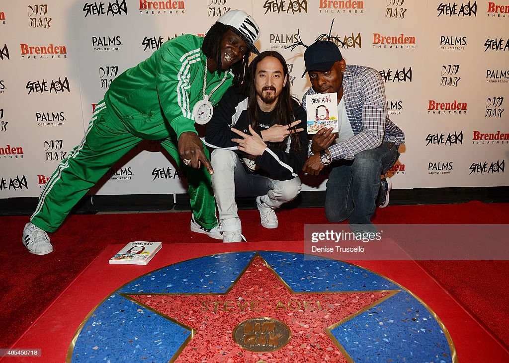 "Producer/DJ Steve Aoki Receives Brenden ""Celebrity Star"" At Palms Casino Resort"