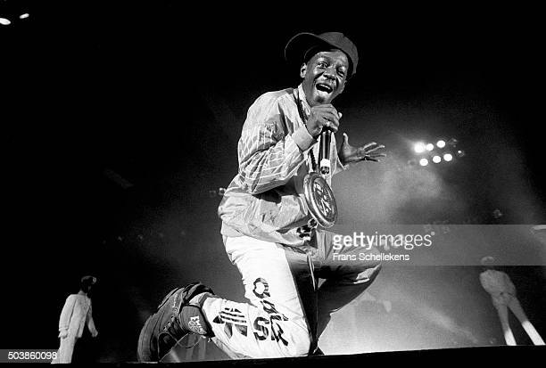 Flavor Flav vocals performs with Public Enemy on November 6th 1990 at Ahoy in Rotterdam the Netherlands