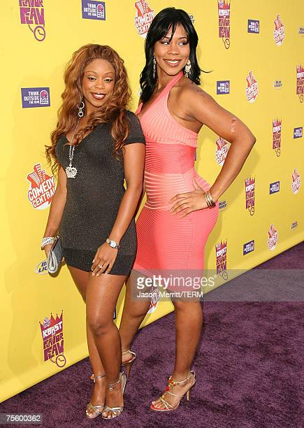 'Flavor of Love Girls Charm School' Shay 'Buckeey' Johnson and Deelishis and arrives to The Comedy Central Roast of Flavor Flav at Warner Bros...