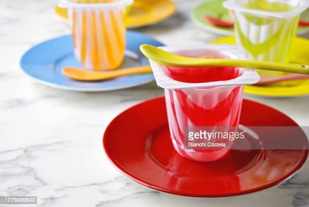 flavored jellies dessert,gelatin - gelatin dessert stock pictures, royalty-free photos & images