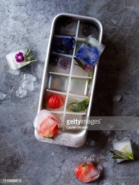 flavoured ice cubes - shape stock pictures, royalty-free photos & images