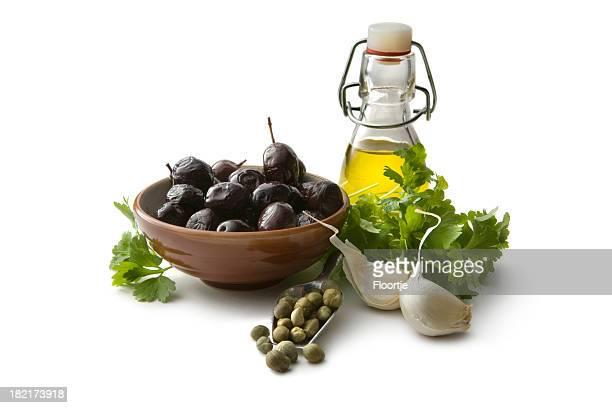 Sabor: Negro, aceitunas, aceite, Capers, el cilantro y ajo