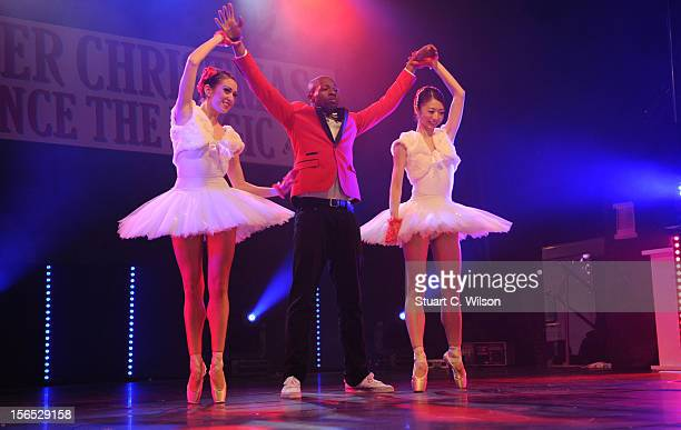 Flawless and The English National Ballet performs at the switch on of Bluewater Christmas Lights at Bluewater Shopping Centre on November 16 2012 in...