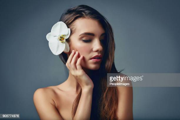 flawless beauty at it's best - smooth stock photos and pictures
