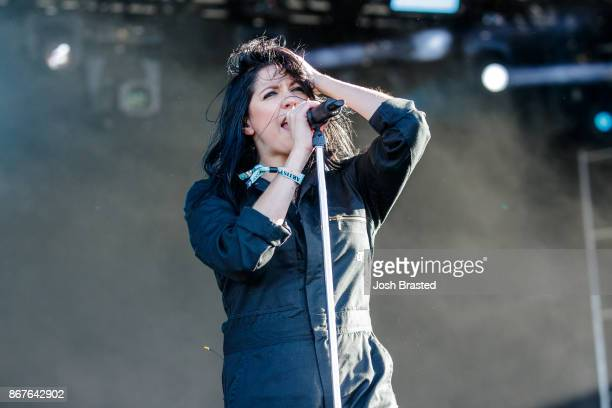 K Flay performs during the 2017 Voodoo Music Arts Experience at City Park on October 28 2017 in New Orleans Louisiana