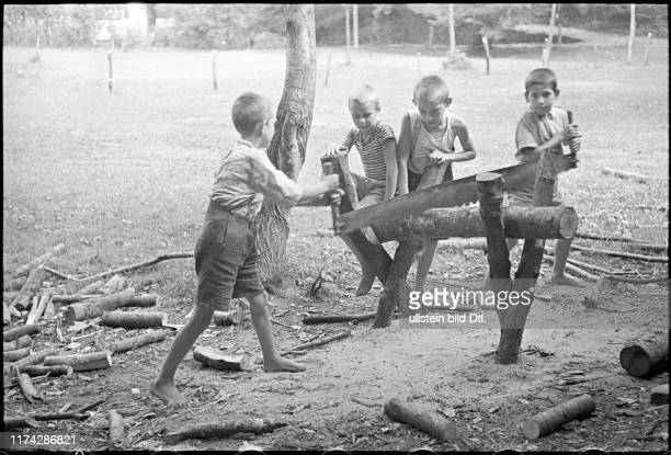 Flüchtlingskinder aus Serbien in Arcegno 1942