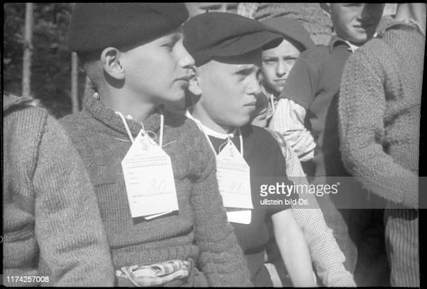 Flüchtlingskinder aus Serbien in Chiasso 1942