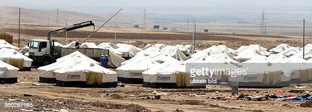 Flüchtlingslager des UNHCR für syrische Bürgerkriegsflüchtlinge in Arbat - Irak