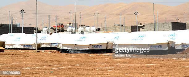 Flüchtlingslager für Bürgerkriegsflüchtlinge aus Syrien in Arbat - Irak // Civil Development Organization supports Syrian refugees at Arbat,...