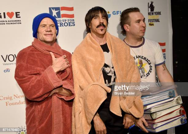 Flea and Anthony Kiedis of Red Hot Chili Peppers attend the 11th Annual Stand Up for Heroes Event presented by The New York Comedy Festival and The...