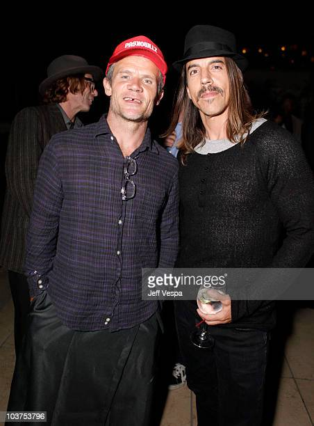 Flea and Anthony Kiedis of Red Hot Chili Peppers attend the Youth Promise Act benefit held at the Sunset Tower on August 31 2010 in West Hollywood...