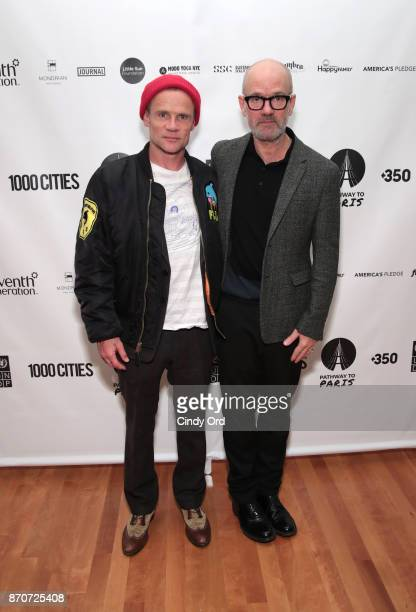 Flea and Michael Stipe attend the After Party for Pathway To Paris Concert For Climate Action on November 5 2017 in New York City