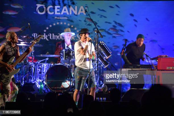 Flea Anthony Kiedis Chad Smtih and Josh Klinghoffer of The Red Hot Chili Peppers perform onstage during Oceana's Fourth Annual Rock Under The Stars...