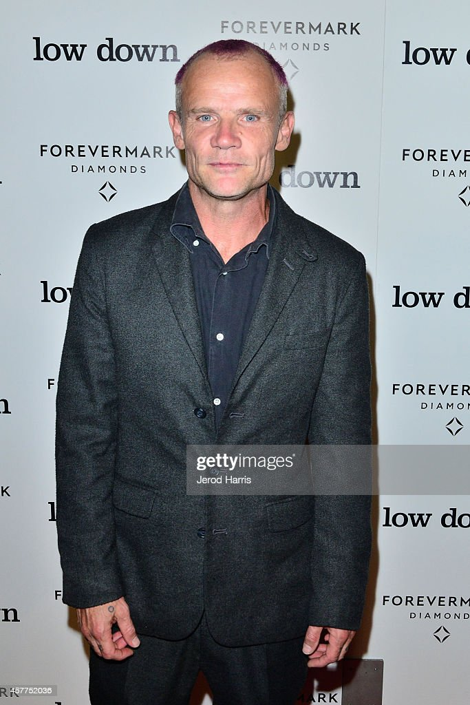 Flea arrives at the premiere of 'Lowdown' at ArcLight Hollywood on October 23, 2014 in Hollywood, California.