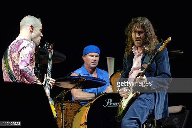 Flea, Chad Smith and John Frusciante of Red Hot Chili Peppers