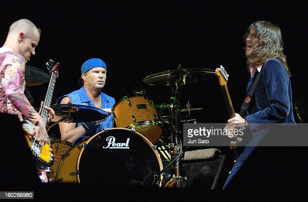 Flea Chad Smith and John Frusciante of Red Hot Chili Peppers
