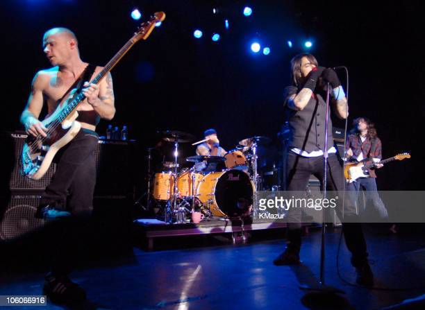 Flea Chad Smith Anthony Kiedis and John Frusciante of Red Hot Chili Peppers