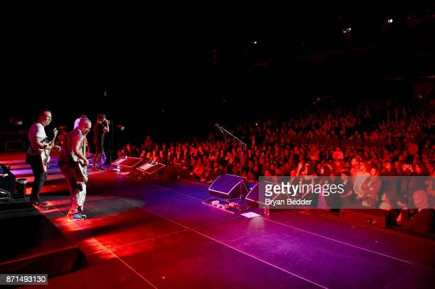 Flea Chad Smith Anthony Kiedis and Josh Klinghoffer of Red Hot Chili Peppers perform onstage during the 11th Annual Stand Up for Heroes Event...