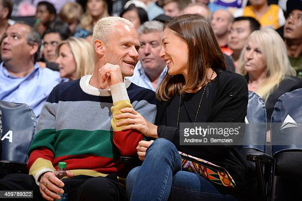 Flea from the Red Hot Chili Peppers attends the game between the Minnesota Timberwolves and the Los Angeles Lakers on November 28 2014 at Staples...