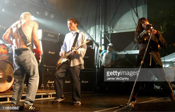 Flea, John Frusciante on Guitar and Anthony Kiedis lead vocalist , of the The Red Hot Chili Peppers