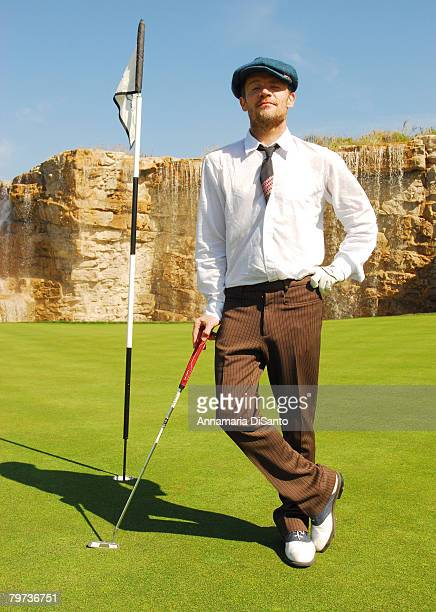 Flea, lead guitarist of the band Red Hot Chili Peppers, poses for a photo at the Bogart Foundation Charity Golf Tournament on February 11, 2008 in...