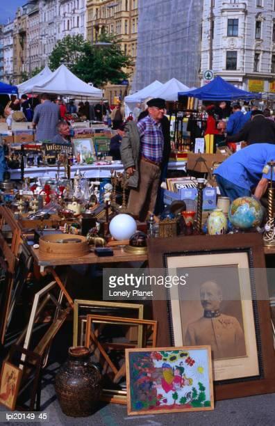 Flea market at Naschmarkt, Wieden, Vienna, Austria