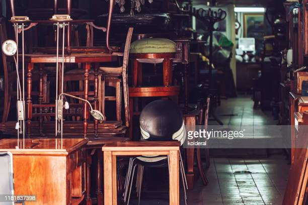 flea market furniture store - antique stock pictures, royalty-free photos & images