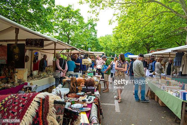 Flea market in Berlin with a lot of old goods