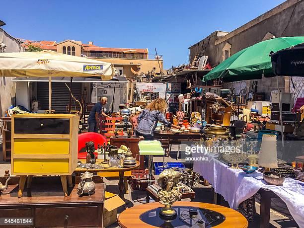Flea market in Old Yafo, Tel Aviv, Israel